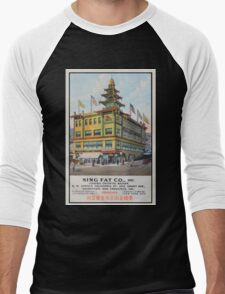 1900s Chinese Bazaar department store Chinatown San Francisco Men's Baseball ¾ T-Shirt