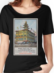 1900s Chinese Bazaar department store Chinatown San Francisco Women's Relaxed Fit T-Shirt