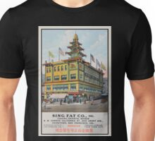 1900s Chinese Bazaar department store Chinatown San Francisco Unisex T-Shirt