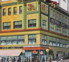 1900s Chinese Bazaar department store Chinatown San Francisco Sticker