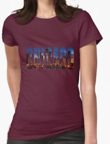 Chicago (Night) Womens Fitted T-Shirt