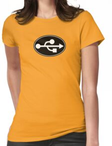 USB - EURO STICKER Womens Fitted T-Shirt