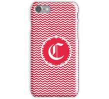 C Red Chevron iPhone Case/Skin