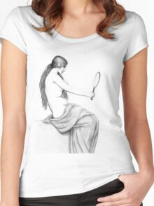 Reflection of beauty Women's Fitted Scoop T-Shirt