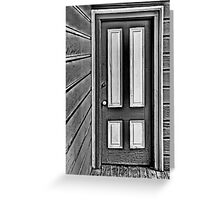 The Old Gray and White Door Greeting Card