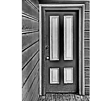 The Old Gray and White Door Photographic Print