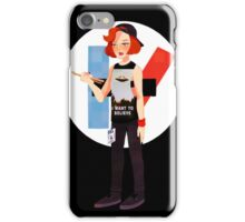 The drum is out there iPhone Case/Skin