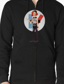 The drum is out there Zipped Hoodie
