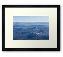 Window Plane View of Andes Mountains Framed Print