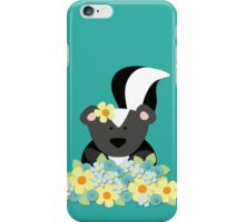 Cute Skunk with Yellow Flowers iPhone Case/Skin