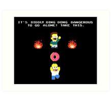 Zelda Simpsons Art Print