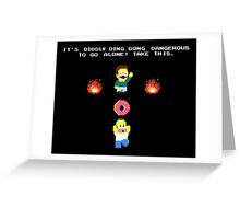 Zelda Simpsons Greeting Card