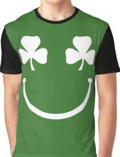 Shamrock Smiley Face Graphic T-Shirt