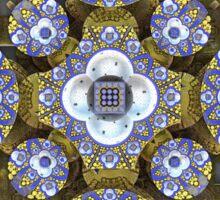 'Cobalt and Gold Mandala' Sticker