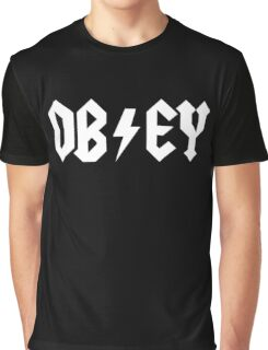 OBEY - AC DC PARODY - Alternate Graphic T-Shirt