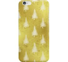 Gold Christmas Tree Faux Foil Trees iPhone Case/Skin