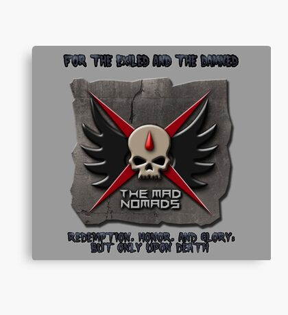 Mad Nomad Logo (Almost Everything And Grey Backround) Canvas Print