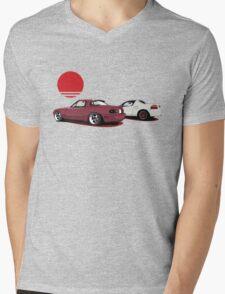 JDM Sunset Mens V-Neck T-Shirt