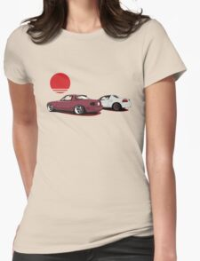 JDM Sunset Womens Fitted T-Shirt