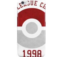 indigo league champion 98 iPhone Case/Skin