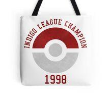 indigo league champion 98 Tote Bag