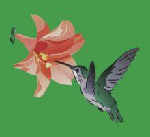 Hummingbird Hovering Near Orange Lily Flower Baby Tee