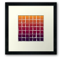 Colorful squares pattern Framed Print