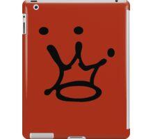 Graffiti Crown | Black iPad Case/Skin