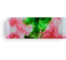 Green and red ink Canvas Print