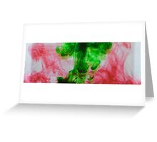 Green and red ink Greeting Card