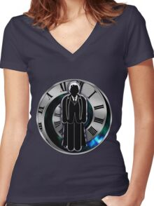 Doctor Who - 10th Doctor - David Tennant Women's Fitted V-Neck T-Shirt