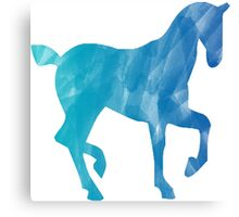 Blue Watercolor Horse Canvas Print