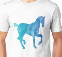Blue Watercolor Horse Unisex T-Shirt