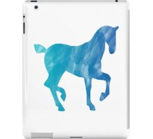 Blue Watercolor Horse iPad Case/Skin