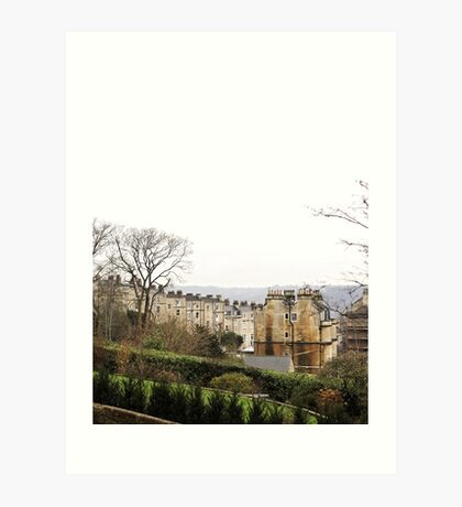 View over Bath from Cavendish Crescent Art Print