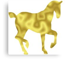 The Gold Horse Canvas Print