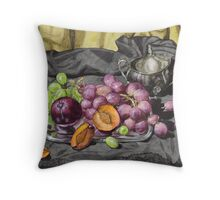 Let's get oldschool.. with grapes. Throw Pillow