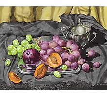 Let's get oldschool.. with grapes. Photographic Print