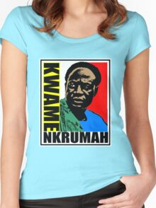 Kwame Nkrumah Women's Fitted Scoop T-Shirt