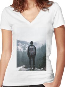 Think to Trip Women's Fitted V-Neck T-Shirt