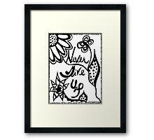Rachel Doodle Art - Never Give Up Framed Print