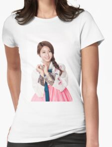 Simple Seoulhyun Womens Fitted T-Shirt