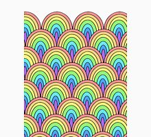 rainbow scallop vector pattern Mens V-Neck T-Shirt
