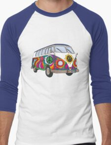 Psychedelic Kombi Men's Baseball ¾ T-Shirt