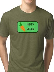 Happy Vegan Tri-blend T-Shirt