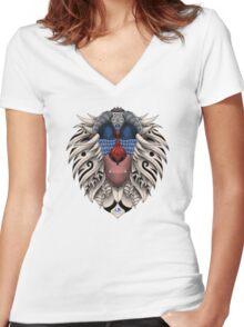Ornate Rafiki Vol. 2 Colored Women's Fitted V-Neck T-Shirt