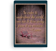 In Order to Understand... Canvas Print