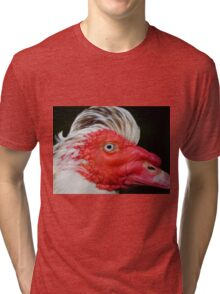 Muscovy with a mohican Tri-blend T-Shirt