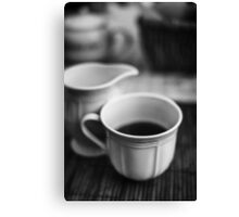 Still life with tea Canvas Print