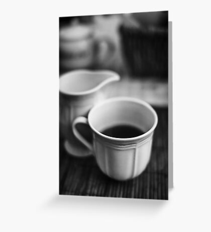 Still life with tea Greeting Card